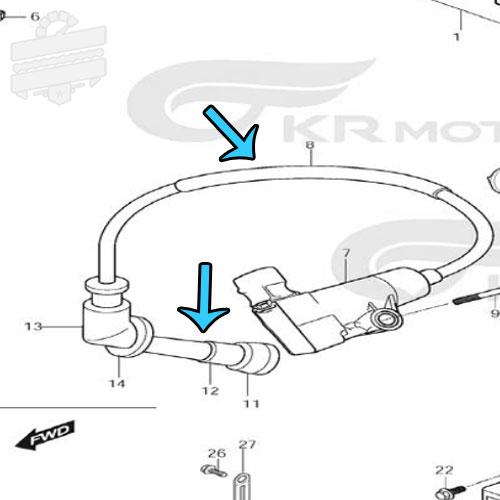 NGK Racing HT Lead Spark Plug Cap - Hyosung GD250N GD250R