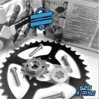 X-Ring Upgrade Chain & Sprocket Kit {Full 520 Conversion} :: Hyosung RT125 | RX125