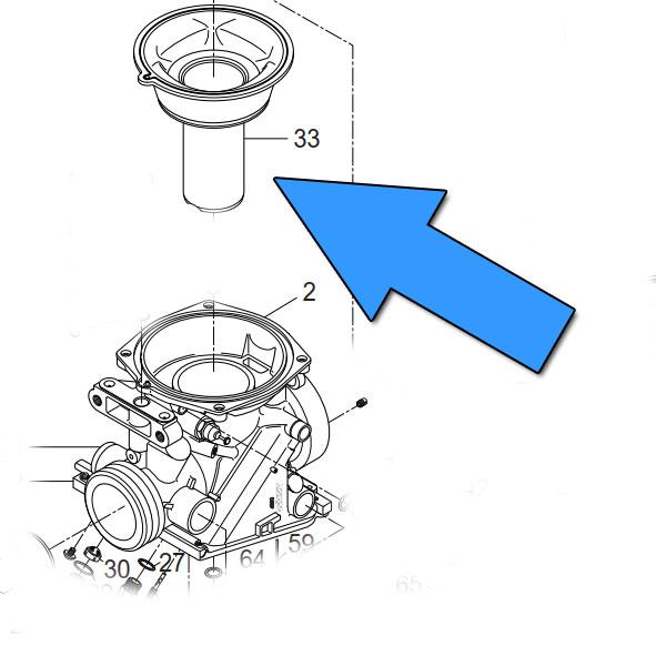 Carb Diaphragm (Throttle Slide Piston) :: Hyosung GT125R GV250 GT250R GV125
