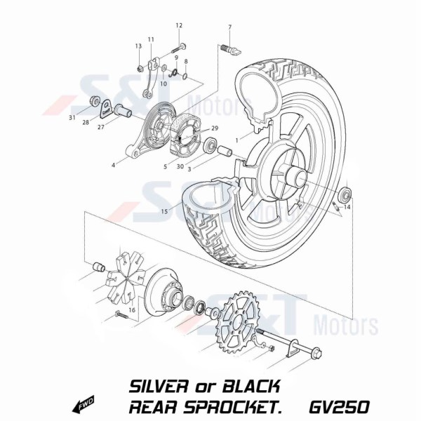 Premium X-Ring Chain & Sprocket Set :: Hyosung GV250
