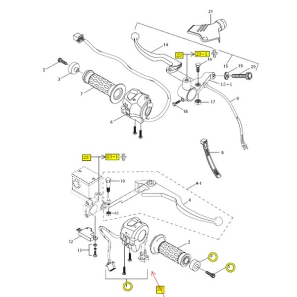 Clutch Lever Cable Adjuster Hyosung GT GV GTR 125 650 250