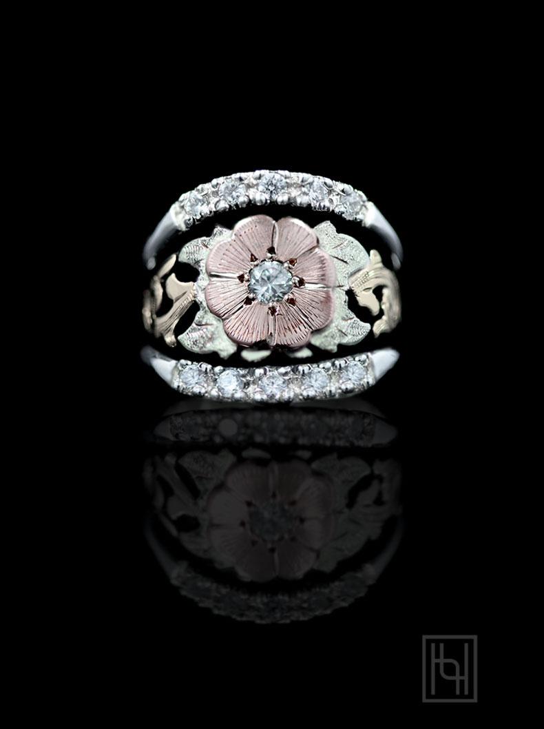 Texas Rose Ring Hyo Silver