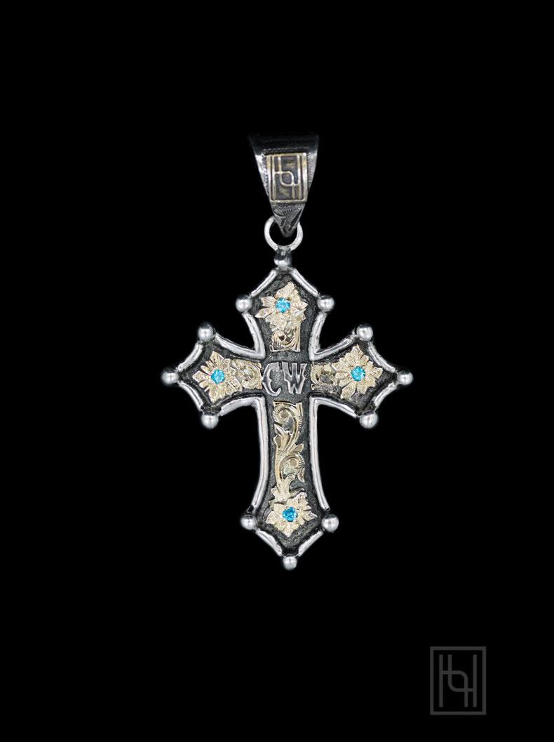 Custom Chroma Cross Pendant Custom Jewelry By Hyo Silver