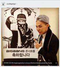 Alive GALAXY Tour Final Seoul Jiyong Instagram Backstage