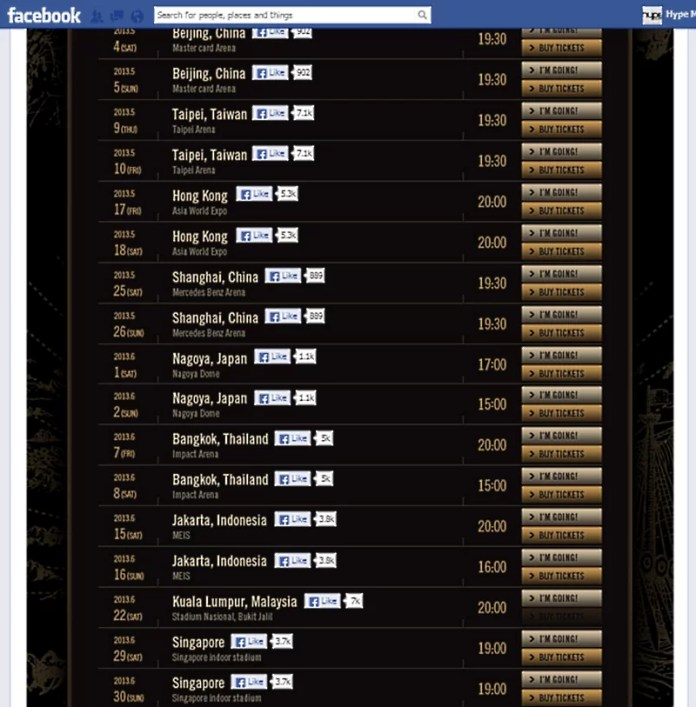 G-Dragon One Of A Kind World Tour 2013