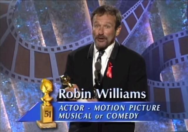 Robin Williams Mrs. Doubtfire Golden Globes Award
