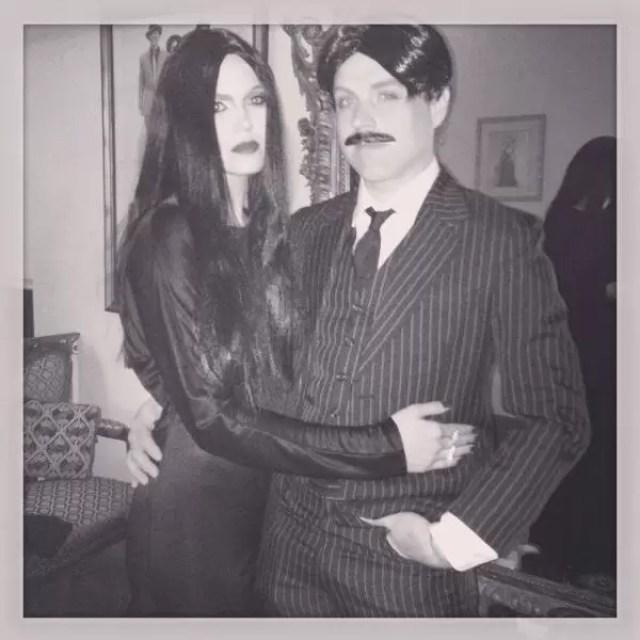Mandy Moore and Ryan Adams Addam's FamilyHalloween 2013