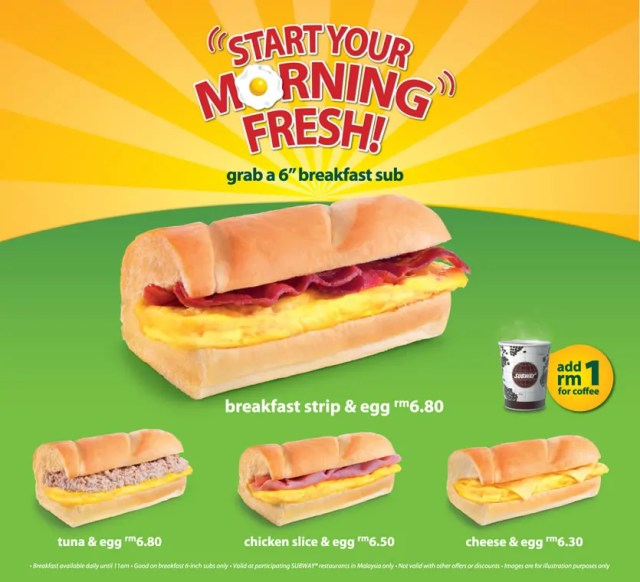 Subway Breakfast promo