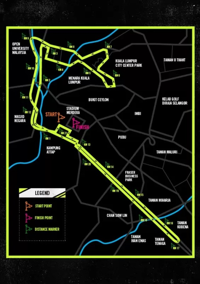 WeRunKL 2015 Race Route