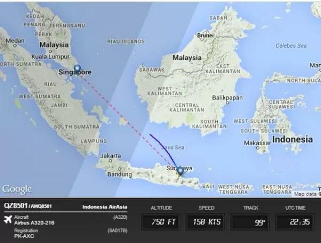 AirAsia: Flight QZ8501 Missing En Route From Surabaya ...