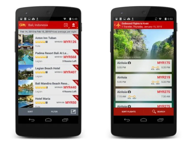 AirAsia Go Mobile App Flight Hotel