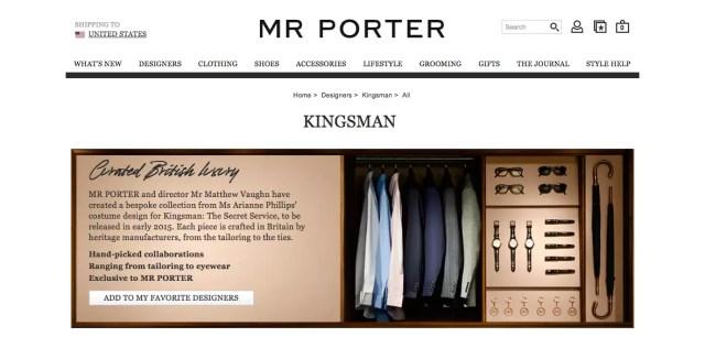 Mr Porter Kingsman