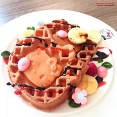 Sunway Pyramid Hello Kitty Cafe Chocolate Waffles