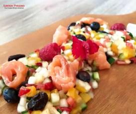 Sunway Pyramid Hello Kitty Cafe Salmon Salad