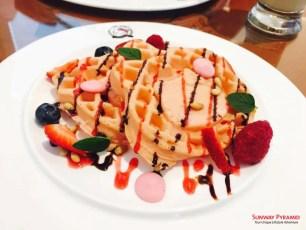 Sunway Pyramid Hello Kitty Cafe Waffles