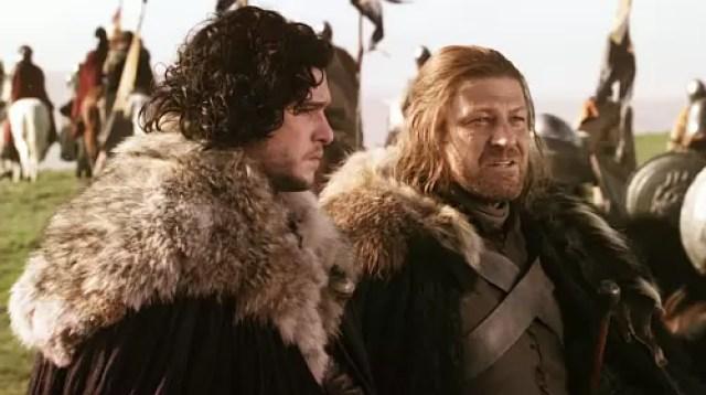 Ned Stark and Jon Snow