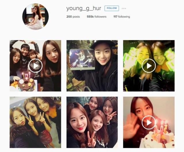 Source: Youngji's Instagram