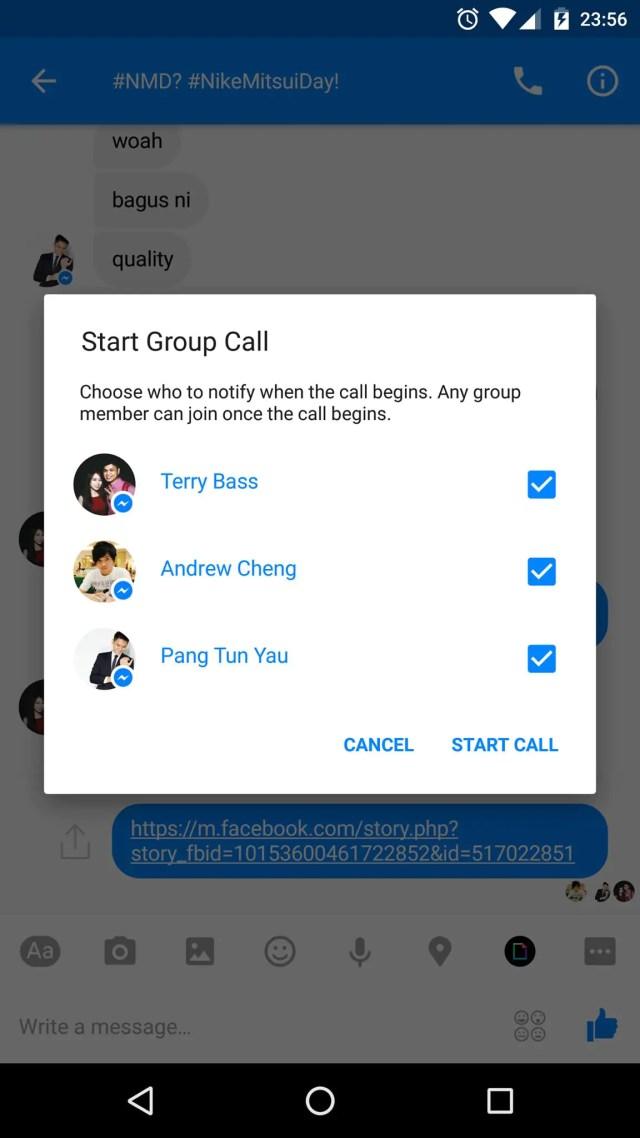 Facebook Group Calling