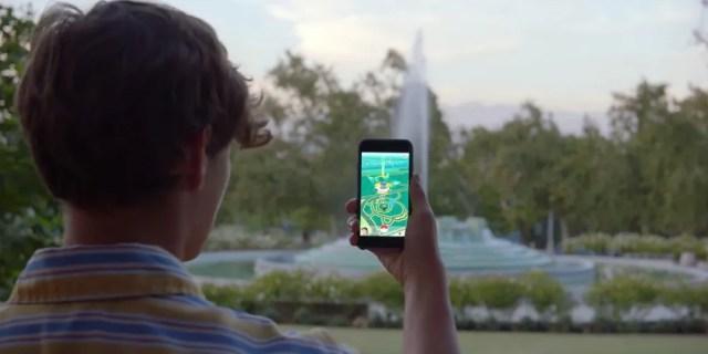 Playing-Pokemon-GO-Outside