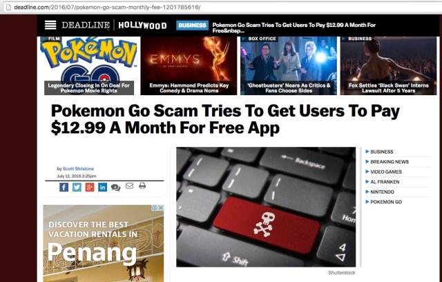 Pokemon Go Scam