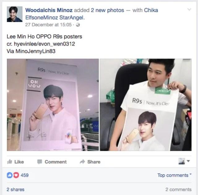 Lee Min Ho OPPO R9s