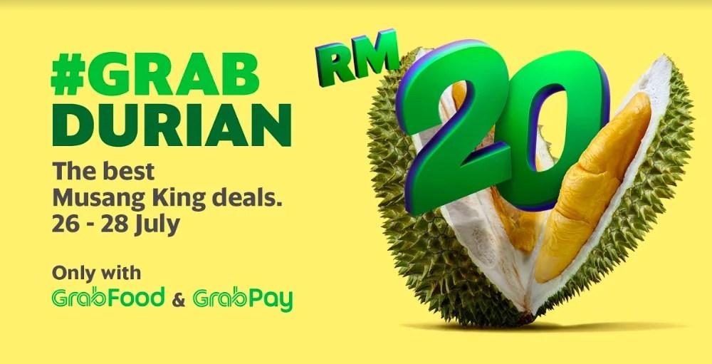 Enjoy 2 Great GrabDurian Deals With GrabFood & GrabPay This