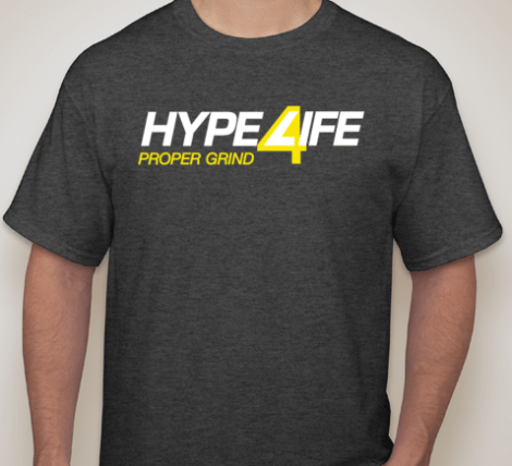 Hype4Life Men's Short Sleeve (DARK GRAY)(cotton/poly blend)