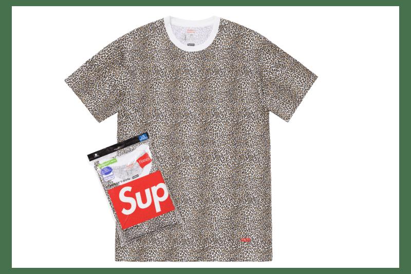 Supreme Spring/Summer 2019 Accessories Leopard Print Tees Hanes