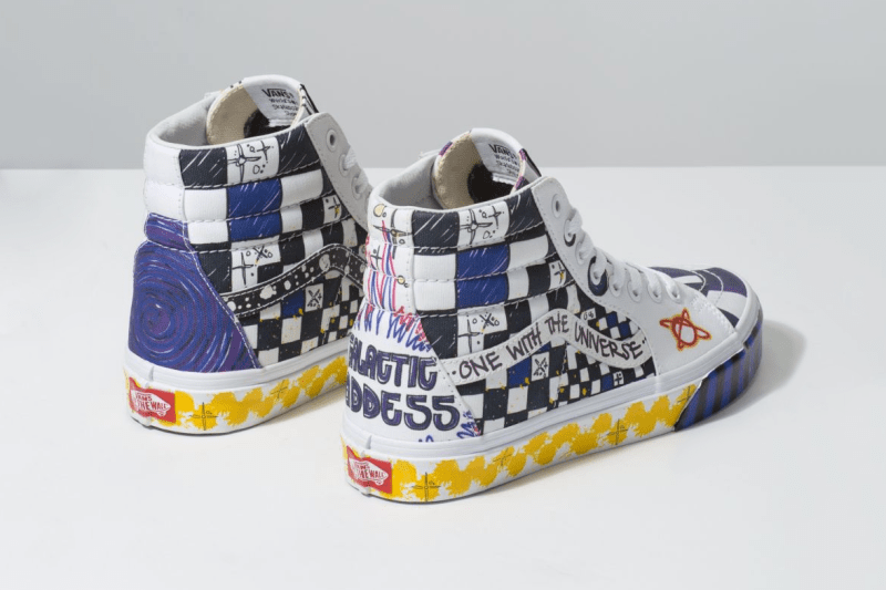 """Vans Sk8-Hi & Authentic """"Galactic Goddess"""" Pack release date drop info graphic print drawing"""