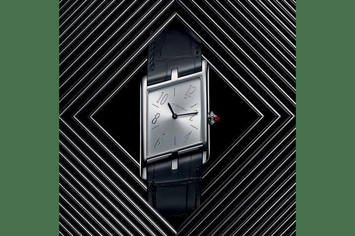 Cartier Privé Tank Asymétrique Watch Fine Timepiece Release Information Retro Design First Look Limited Edition 100 Pieces Six Versions Horology 9623 MC skeleton movement