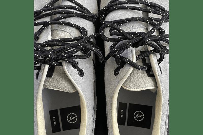 fragment design x Nike Air Max 1 Hiroshi Fujiwara Preview Sample First Look Teaser Instagram Upload The Ten Virgil Abloh Swoosh AM1 Technical Lacing System