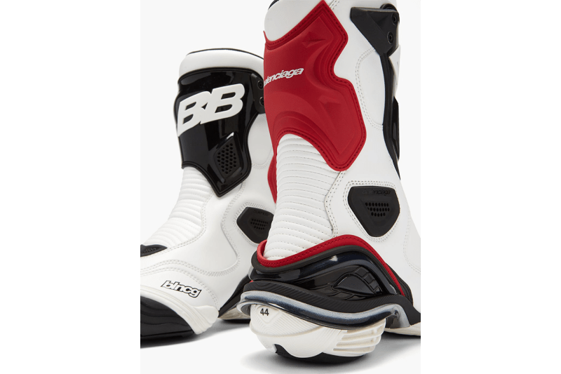 Balenciaga Tyrex Leather Biker Boots Fall Winter 2020 FW20 Runway Sneaker Shoes Trainer Demna Gvasalia Motorcross White Black Red Luxury Mens Fashion