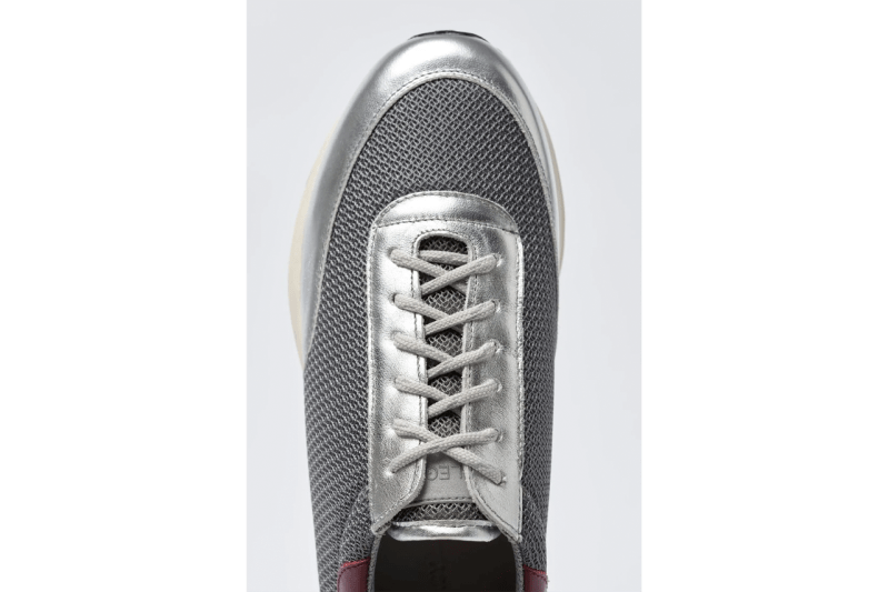 Our Legacy Mono Runner Silver Vibram® RollinGait System 3M Reflective Logo Laces A4207MS OL Stockholm Swedish Chunky FW20 Fall Winter 2020 Footwear Shoes Sneakers Classic Preppy CleanJockum Hallin Cristopher Nying Richardos Klarén