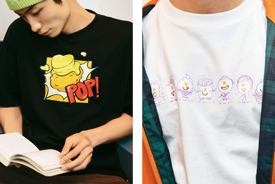 BTS x McDonald's Merch 2nd Drop Closer Look Exclusive Saucy Collection Melty Capsule Release Information How to Buy Jin Suga J-Hope RM Jimin V Jungkook