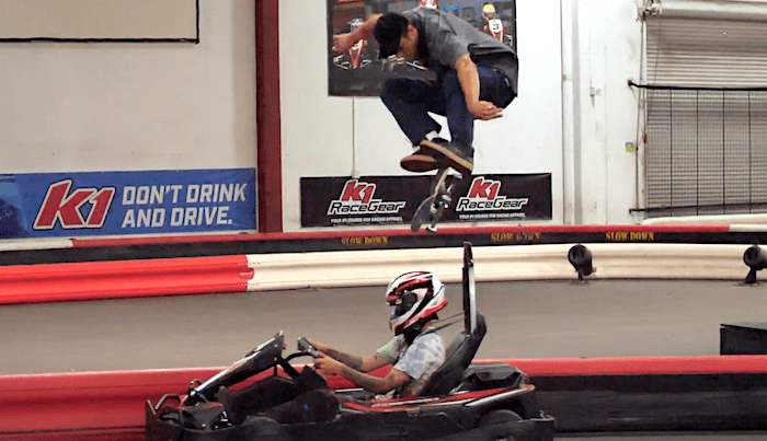Watch Andale's Carlos Ribeiro Skate The Ultimate Go-Kart Track