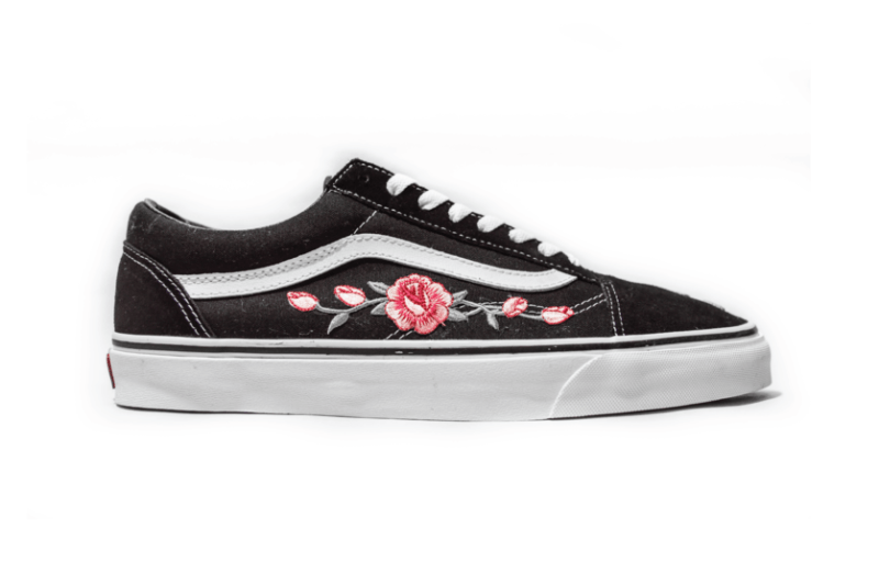 Vans Old Skool Botanical AMAC Customs White Black