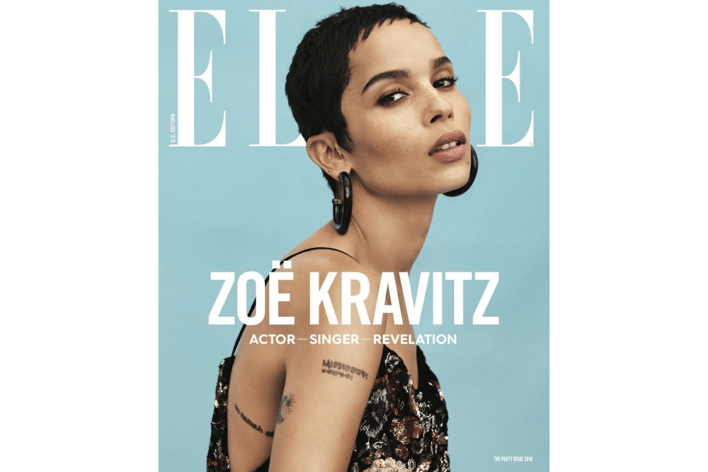 Zoe Kravitz Covers ELLE Magazine's January Issue Fashion Shoot Saint Laurent Interview