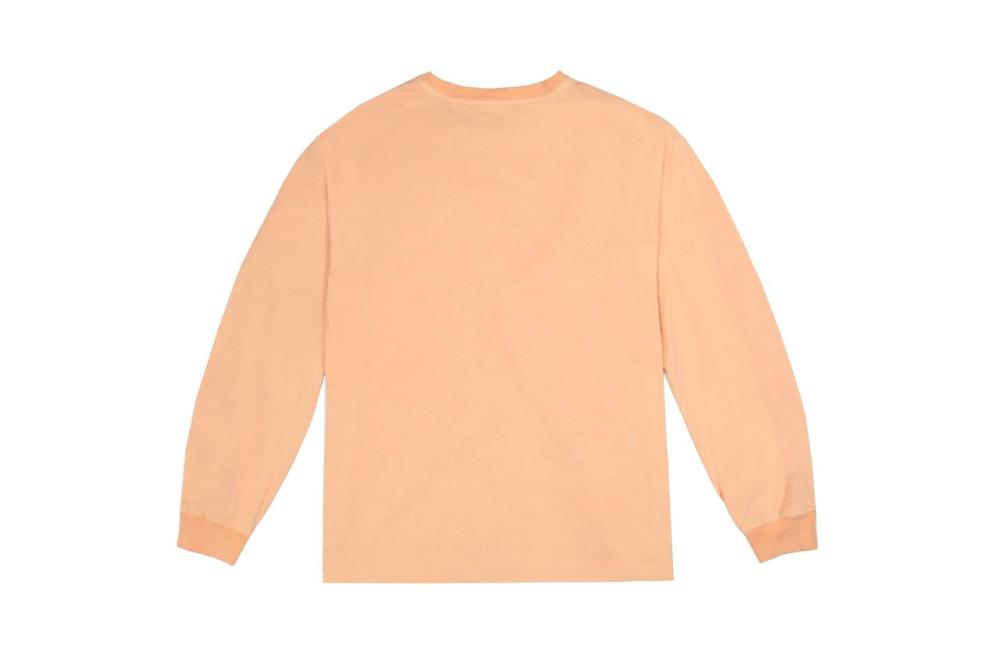 Kanye West Neon YEEZY Calabasas Just Dropped Longsleeve Neon Yellow Orange Sweater Yeezy Supply