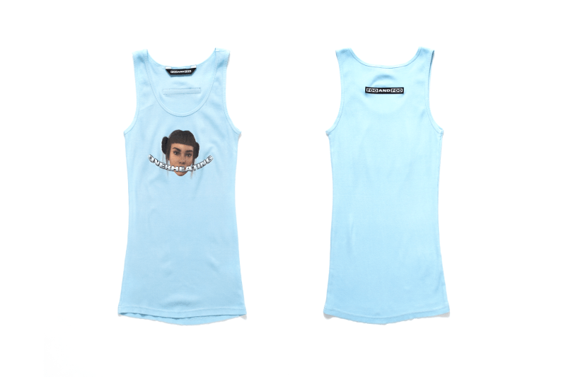 Foo and Foo Lil Miquela Tank Top Baby Blue