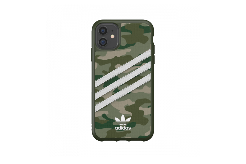 adidas Originals iPhone 11 Case 3-Stripes Camo Raw Green
