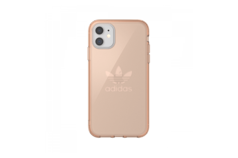 adidas Originals iPhone 11 Case Trefoil Clear Rose Gold