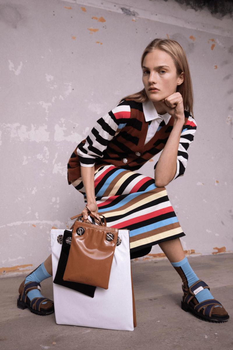 GANNI Pre-Fall 2020 Collection Lookbook Knit Dress Striped