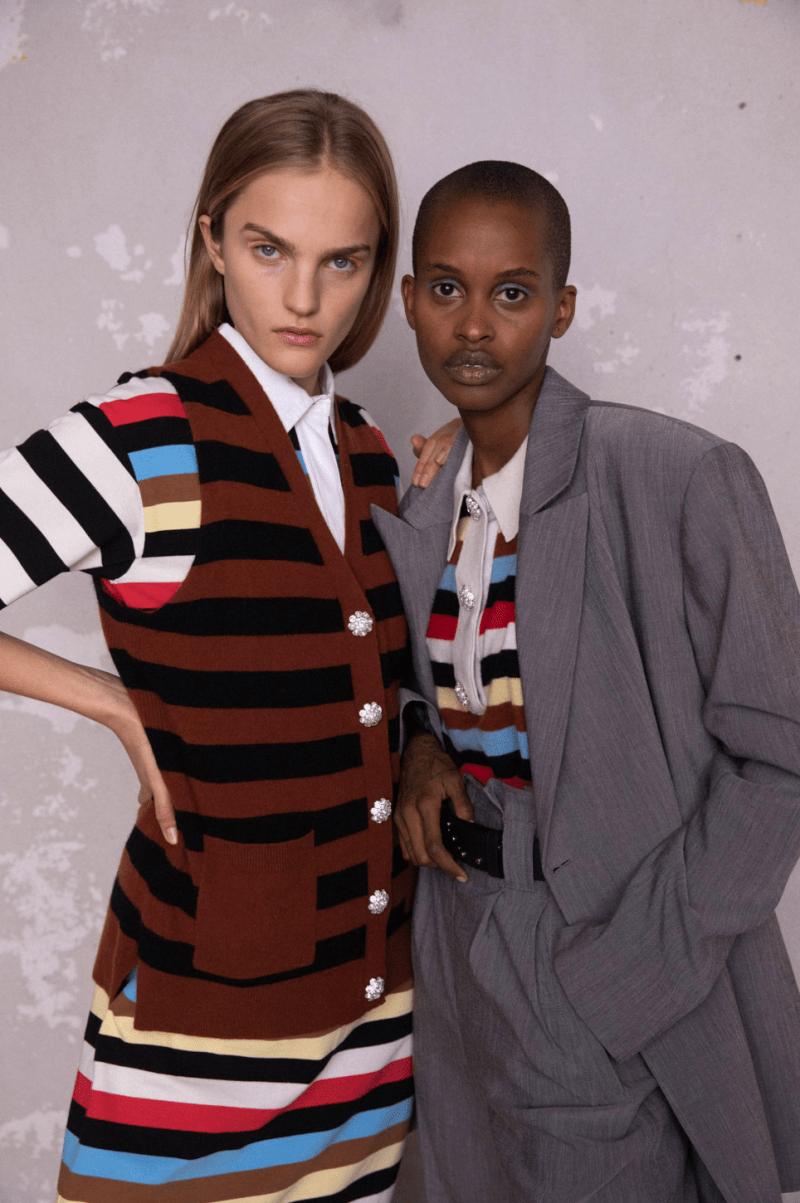 GANNI Pre-Fall 2020 Collection Lookbook Vest Knit Striped