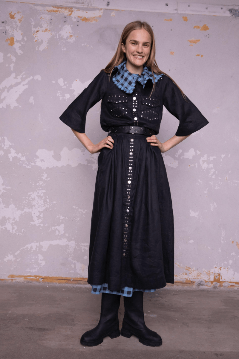 GANNI Pre-Fall 2020 Collection Lookbook Denim Dress Studded Western