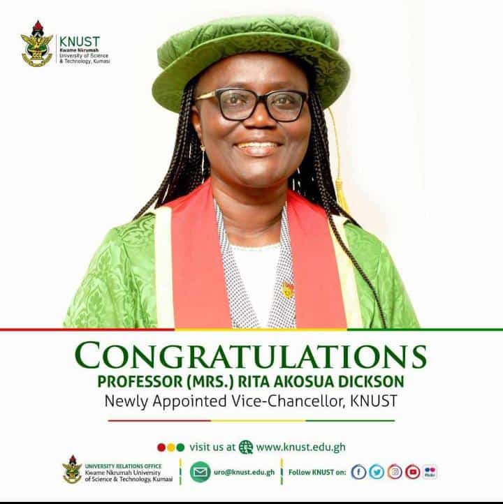 First ever Female Vice- Chancellor of KNUST