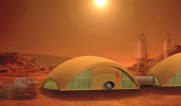 NASA Exploring Future Homes on Mars and the Moon Made of Fungi