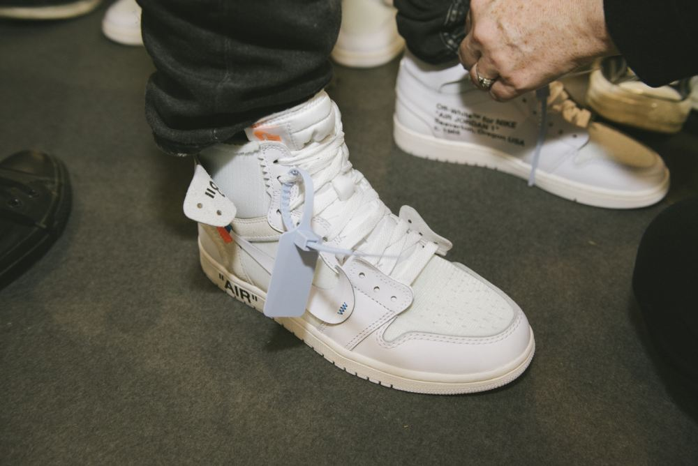 virgil abloh All-White Virgil Abloh x Nike Air Jordan 1s Teased [SneakPeak] off white 2018 fall winter paris backstage 1