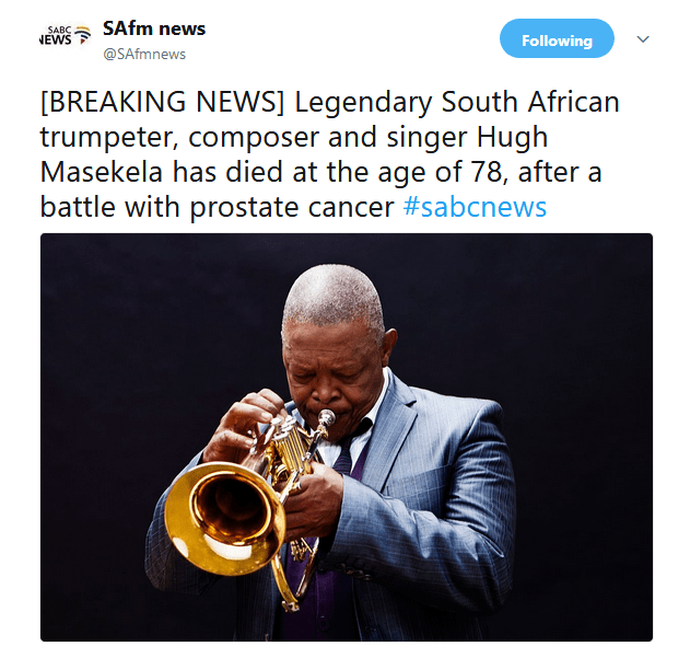 hugh masekela Jazz ICON Hugh Masekela Passes Away At Age 78 u