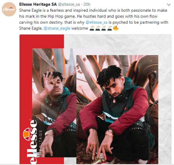 Shane Eagle Signs New Deal With Ellesse Untitled