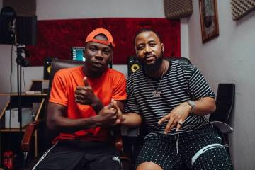 Casssper Nyovest And Stonebwoy Linked Up In Studio 29570591 2140496049515792 4913854692530372457 n